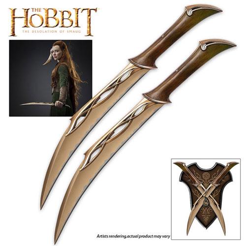 tauriel swords set from the hobbit