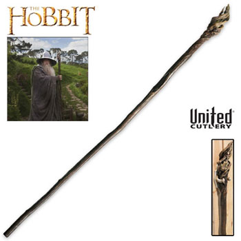 Hobbit Gandalf Staff with Display